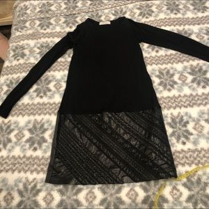 NWOT Bailey / 44 faux leather sexy dress black XS